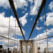 Road above Brooklyn Bridge — Stock Photo