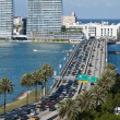 Stock Photo: Leaving Miami, Florida