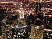 Noční pohled na new york city — Stock fotografie