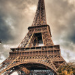 Stock Photo: Bottom-Up view of Eiffel Tower, Paris
