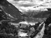 Geiranger Fjord at Sunset, Norway — Stock Photo
