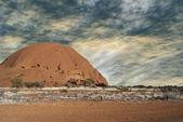 Nubi su outback australiano — Foto Stock