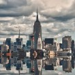 New York City Skyscrapers Reflections — Stock Photo