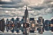 New York City Skyscrapers Reflections — Stock Photo