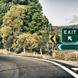 Exit Road Sign, Fillable — Stock Photo