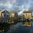 Group of Homes over Water in Nantucket, U.S.A. — Stock Photo #4374912