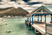 Saint Maarten Waterfront, Dutch Antilles — Stock Photo