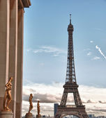 View of Eiffel Tower, Paris — Stock Photo
