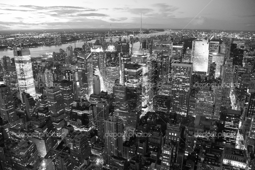 New York City by Night from the Empire State Building — Stock Photo #4374258