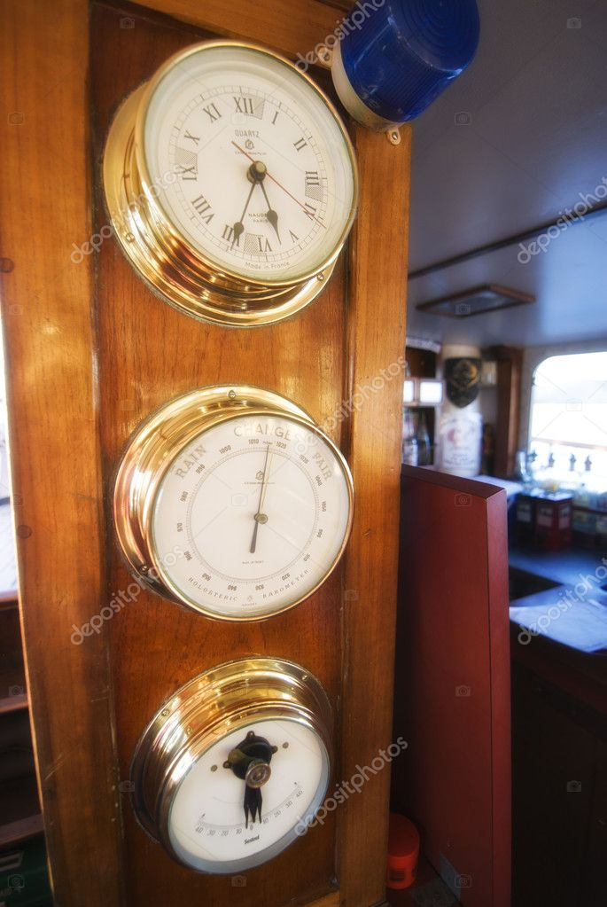 Marine Instruments on a Cruise Boat, Whitsundays, Australia — Stock Photo #4374850