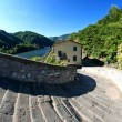 Devils Bridge Fisheye View, Lucca - Stock Photo