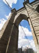 Architettura di ponte di brooklyn — Foto Stock