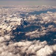 Dolomites from the Aircraft - Stock Photo