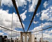 Road above Brooklyn Bridge — Stock Photo