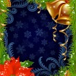 Christmas and New Year greeting card 21 — Stock vektor