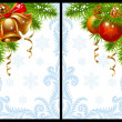 Christmas and New Year greeting card 15 — Vector de stock