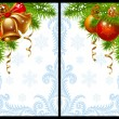 Christmas and New Year greeting card 15 — Imagen vectorial