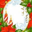 Christmas and New Year greeting card 15 — Stock Vector