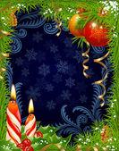 クリスマスと新年のグリーティング カード 20 — ストックベクタ