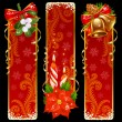 Christmas and New Year vertical banners - Stock Vector