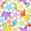 Flowers colorful background — Stock Vector