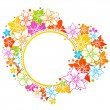 Floral colorful frame — Stock Vector