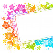 Stok Vektör: Floral colorful background 15