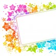 Stock vektor: Floral colorful background 15