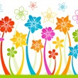 Floral horizontal seamless background — Stock Vector
