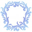 Frost Pattern frame — Stock Vector