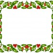 Holly frame 07 — Stock Vector #4102416