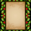 Royalty-Free Stock Vector Image: Holly frame 08