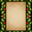 Holly frame 08 — Stock Vector #4102417