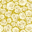 Vector white Rose seamless background 07 — Stock Vector #4102445