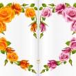 rosa ram i form av hjärta — Stockvektor