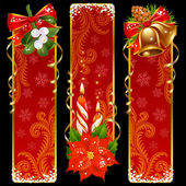 Christmas and New Year vertical banners — Stock Vector