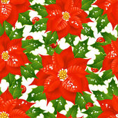 Natal flores fundo sem emenda — Vetor de Stock