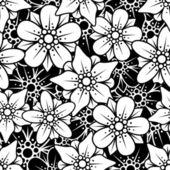 çiçek sorunsuz arka plan — Stok Vektör