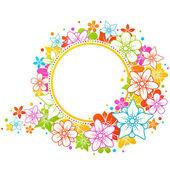 花のフレーム 10 — ストックベクタ