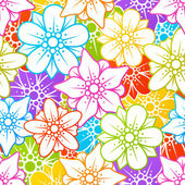 Flowers colorful background — Stock vektor