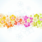 Floral colorful background — Vector de stock