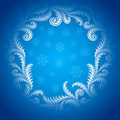 Frost Pattern frame 02 — Stock Vector