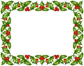 Holly frame 07 — Stock Vector