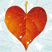 Podzimní láska 02 — Stock vektor
