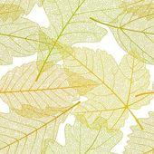 Seamless autumn leaves pattern 01 — Stock Vector