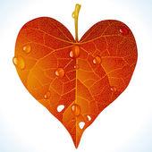 Autumnal love — Stock Vector