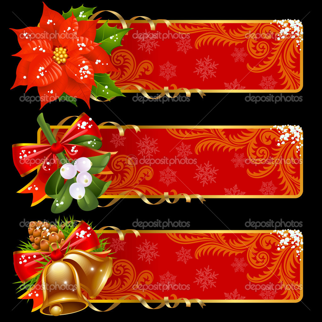 Christmas and New Year banners — Stock Vector #4102283