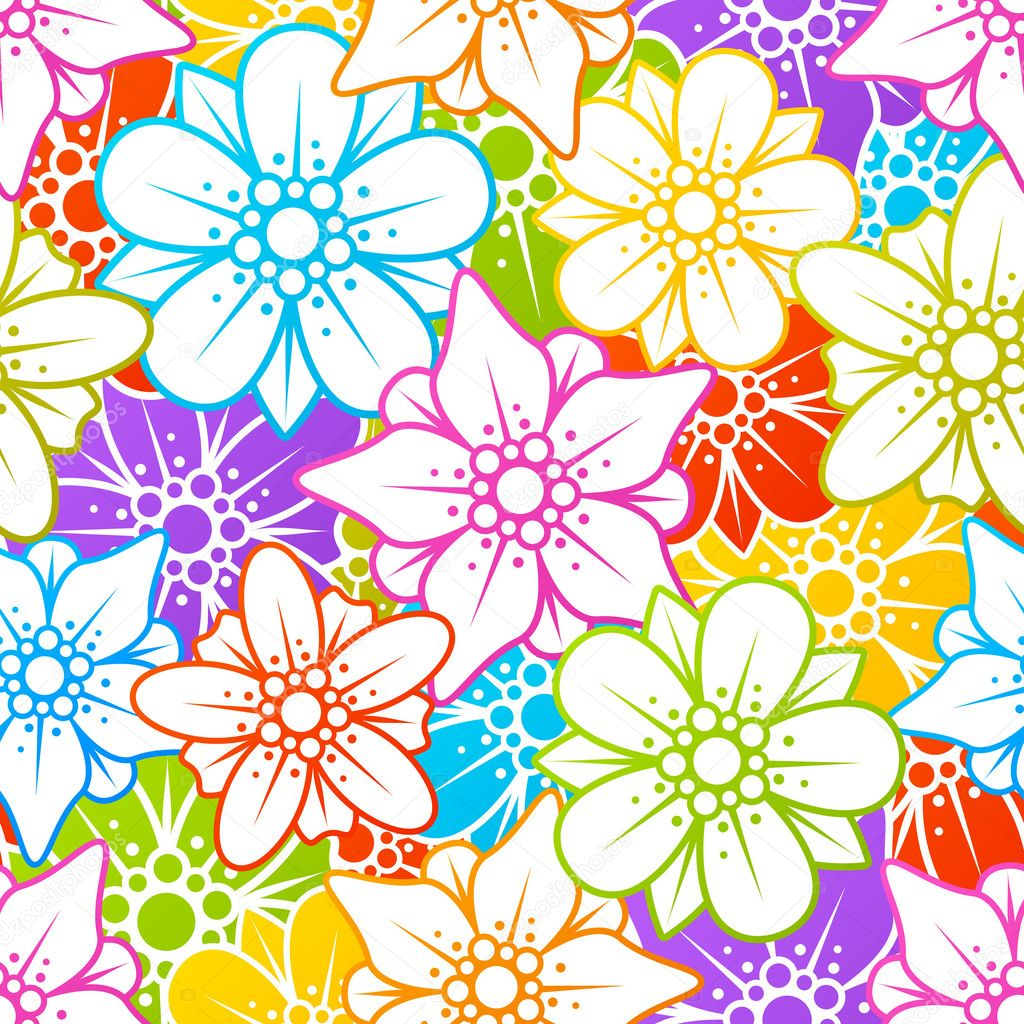 Floral colorful background   Stock Vector #4102382