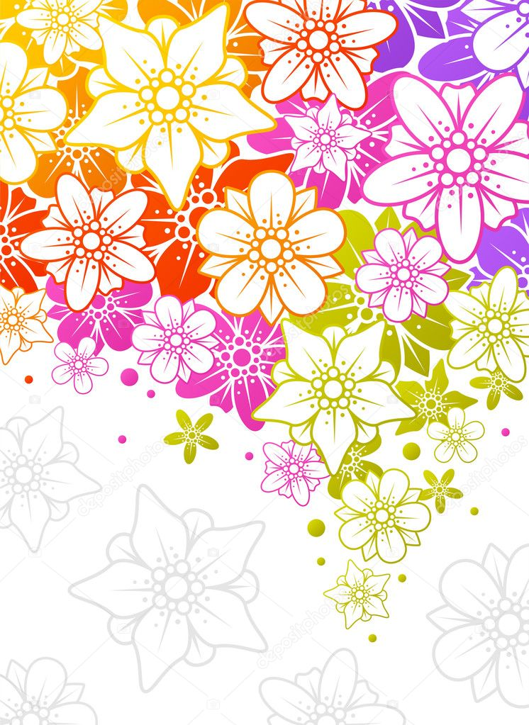 Floral colorful background — Stock Vector #4102385