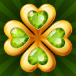 Vector de stock : Golden clover